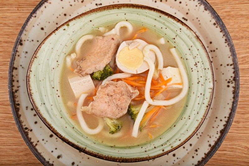 Miso ramen with chicken and ramen egg