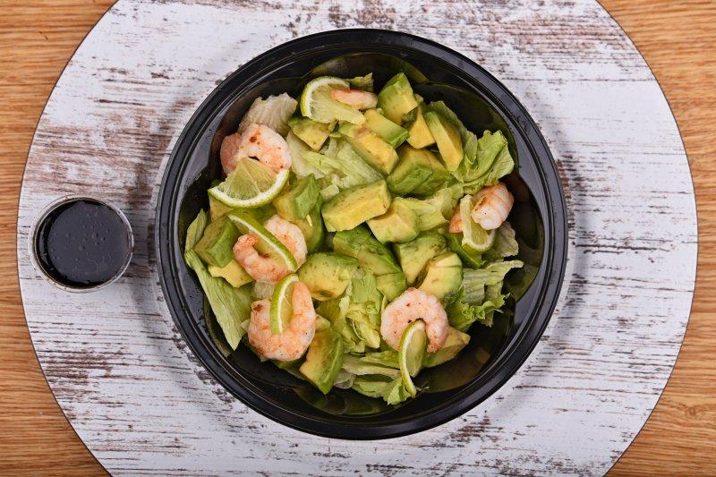 Avocado salad with shrimp