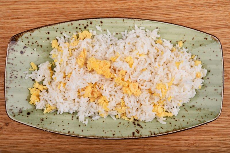 Fried jasmine rice with egg