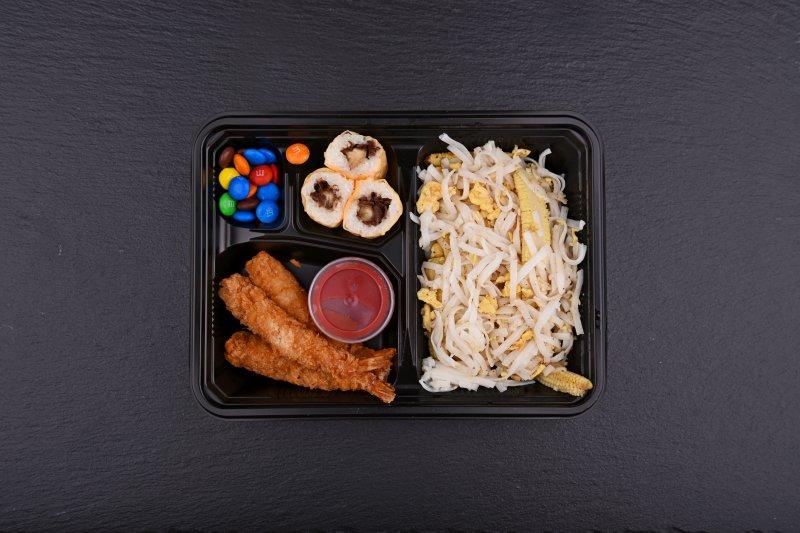 Hinata Kid bento with free salad and salmon balls