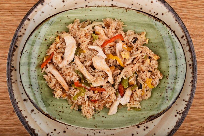 Chicken Teppanyaki made of Zerocalorie rice