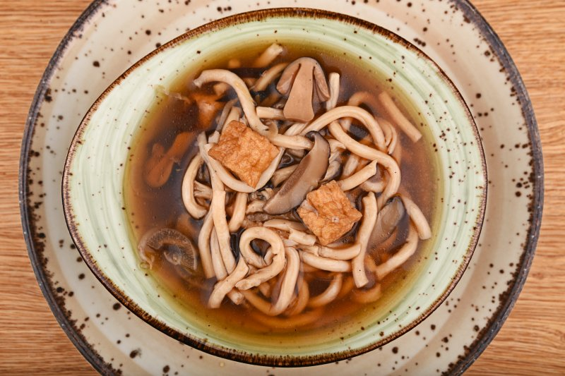 Vegetable ramen with udon noodles