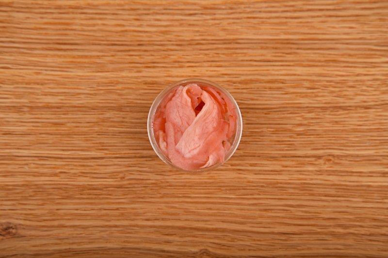 Pink pickled ginger
