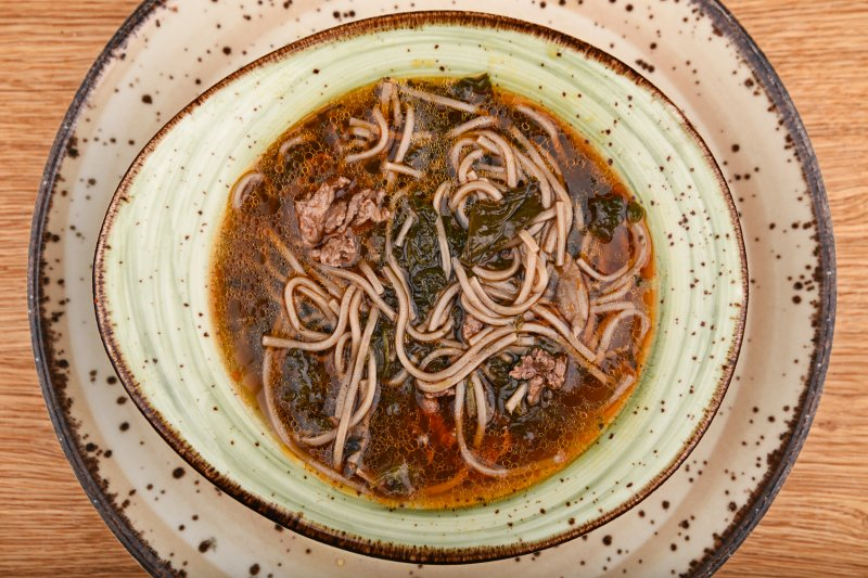Tokyo beef ramen with soba noodles